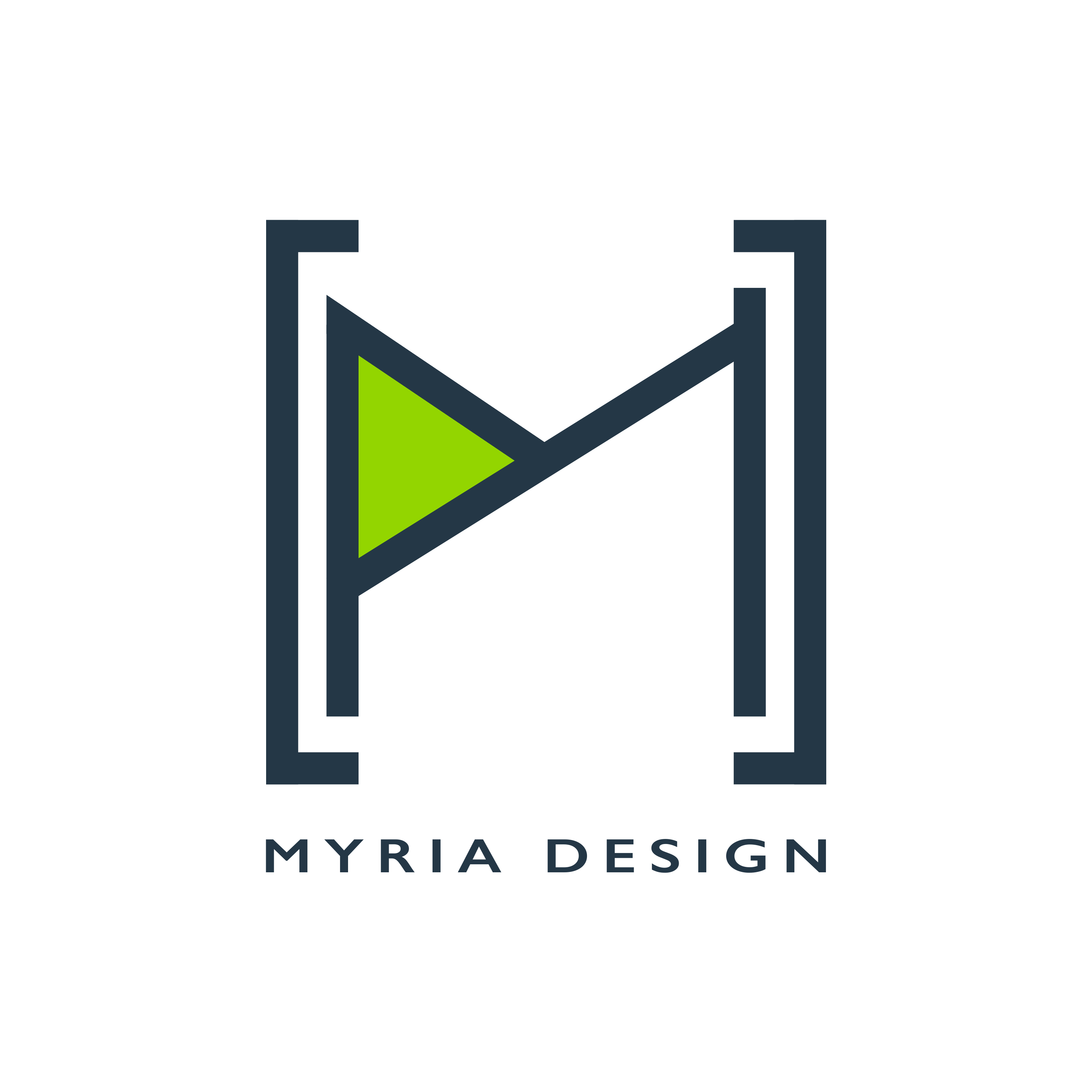 myria design logo square