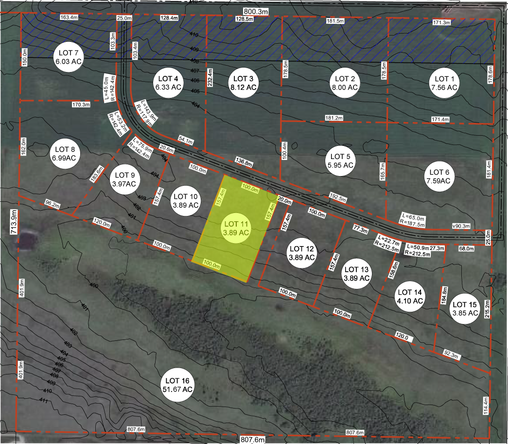 TCIP trans-canada industrial park land development aerial view