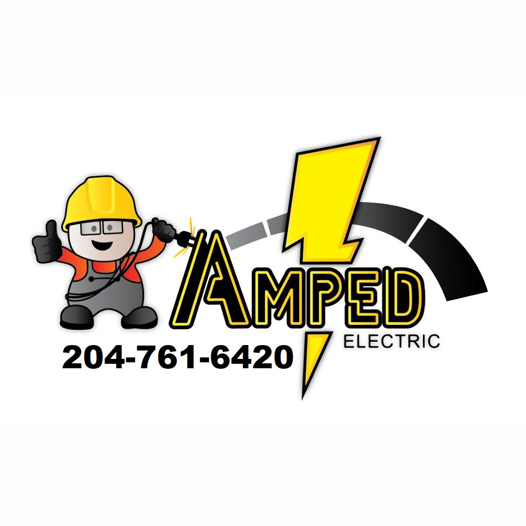 amped electric logo square