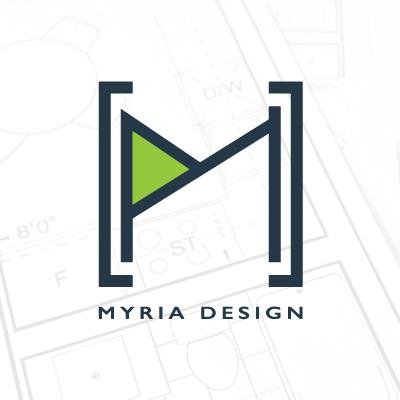 myria design logo header